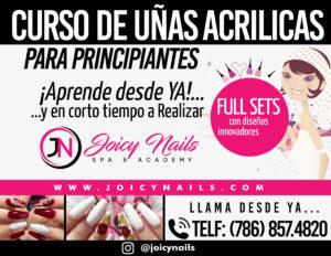 Curso Uñas Acrilicas Miami Joicy Nails Spa Academy